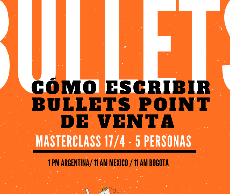 "Copywriting: ¿Qué son ""bullet points"" de venta?"